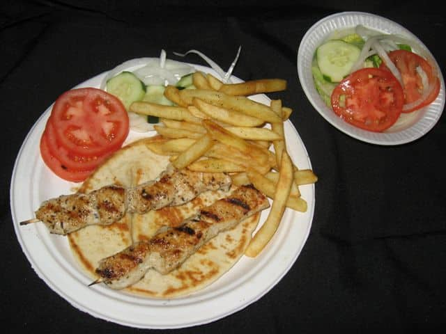 Chicken Kabob Dinner