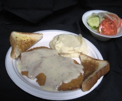 Chicken Fried Steak or Chicken Fried Chicken Dinner