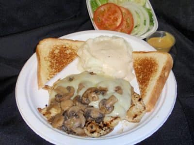 Mushroom Swiss Chicken-Tex Star Grill